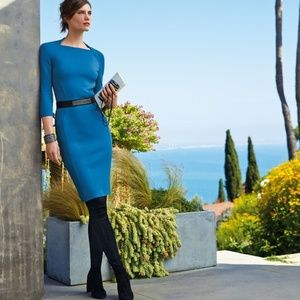 St. John Collection Sculpture-Knit Sheath Dress 16